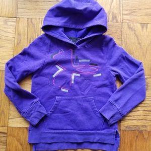 Girl's Purple Under Armour Hoodie, Sz Small
